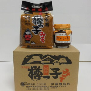 【ふるさと納税】BS-03 寒仕込味噌とからしっ子のセット