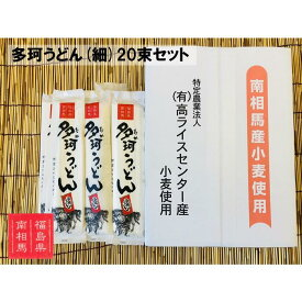 【ふるさと納税】福島県南相馬市産『多珂うどん(細)』 20束セット【05007】