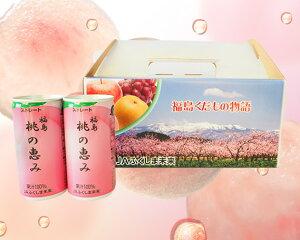 【ふるさと納税】No.017 「福島桃の恵み」40本 果汁100%ジュース / モモジュース ストレート 福島県 特産品