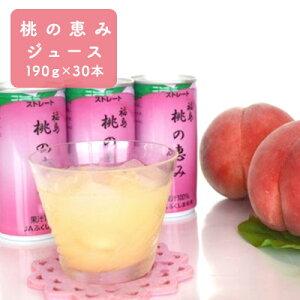 【ふるさと納税】桃の恵みジュース 190g×30本 【果物・もも・桃・フルーツ・果汁飲料・ピーチジュース】