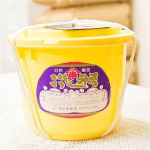 【ふるさと納税】8kg樽 仕立て味噌 (福島県産米・豆)【1099035】