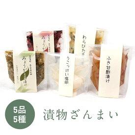 【ふるさと納税】漬物ざんまい 5種5品