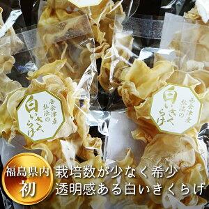 【ふるさと納税】西会津 白い乾燥きくらげ 5袋