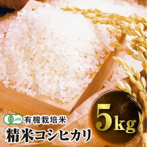 【ふるさと納税】令和3年産 JAS認定 有機栽培米 コシヒカリ 精米 5kg