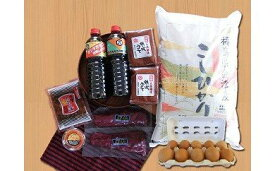 【ふるさと納税】1-O 会津馬刺しロース、会津の味噌・醤油セット