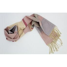 【ふるさと納税】結城紬 艶色温度を楽しむショール 朝のオパール 【ファッション小物・ファッション・ショール】