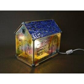 【ふるさと納税】かわいい家型ステンドグラス・ランプ「猫のケーキ屋」【1245328】