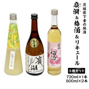 【ふるさと納税】30-8 茨城県下妻の地酒「嶺湖」&リキュールセット