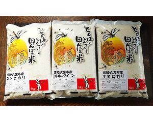 【ふるさと納税】No.053 奥久慈のおいしいお米セット / こしひかり ミルキークイーン キヌヒカリ 詰合せ