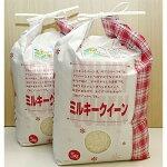 【ふるさと納税】【令和元年産】特栽米ミルキークイーン5kg入り2袋【1091479】