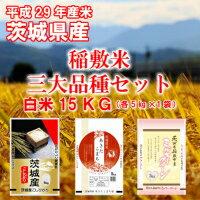 【ふるさと納税】稲敷米 3大品種セット 15kg <29年度産米>お米