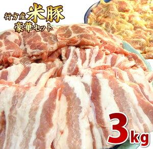 【ふるさと納税】【行方産米豚】 豪華セット 3kg