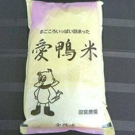 【ふるさと納税】アイガモと一緒に育てたお米「愛鴨米・白米」3kg