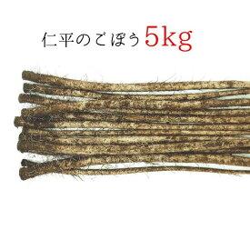 【ふるさと納税】やわらかい 仁平のごぼう 5kg)