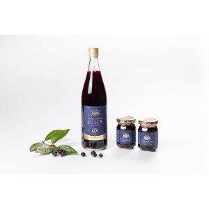 【ふるさと納税】9−K 果汁50%ブルーベリー飲料1本&ブルーべリ−ジャム2個セット