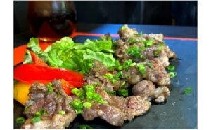 【ふるさと納税】<コロナ支援品> 若菜亭の牛タンカルビ1kg(味噌にんにく味) |肉 牛肉 牛たん