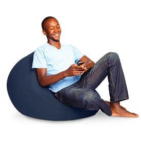 【ふるさと納税】Yogibo Mini (ヨギボー ミニ) ネイビーブルー 1人掛け ビーズクッション ビーズソファ クッション 座椅子