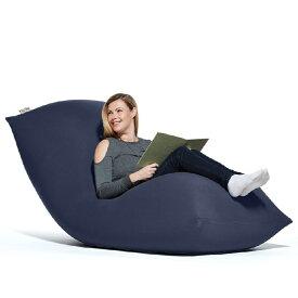 【ふるさと納税】Yogibo Max(ヨギボー マックス) ネイビーブルー |特大Lサイズ ビーズクッション 2人掛けソファー ビーズソファ クッション 座椅子