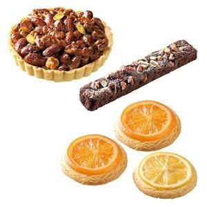 【ふるさと納税】ヘーゼルナッツキャラメルタルト&アーモンドチョコケーキ&オレンジ・レモンクッキー(計 5個)【1084313】
