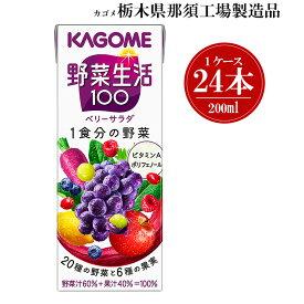 【ふるさと納税】カゴメ 野菜生活100 ベリーサラダ 200ml【1019491】