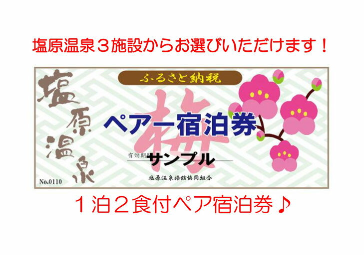 【ふるさと納税】塩原温泉宿泊券ペア1泊2食(梅コース)