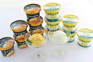 【ふるさと納税】レモン牛乳と中山かぼちゃのアイスセット(14個入り)