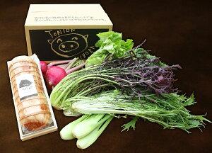 【ふるさと納税】C-06 福豚のハムと良農園の野菜セット