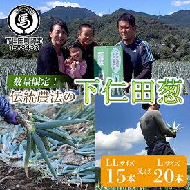 【ふるさと納税】伝統農法の下仁田葱(LL15本またはL20本) F21K-024
