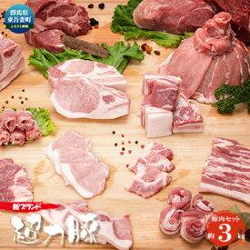 【ふるさと納税】群馬県東吾妻町産 新ブランド『ぐんまの温泉豚』豚肉セット 約3kg 【お肉・豚肉・豚肉セット】