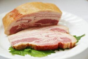 【ふるさと納税】【全国食肉学校】群馬県産冷蔵豚肉を使用した熟成ベーコン(ブロック)