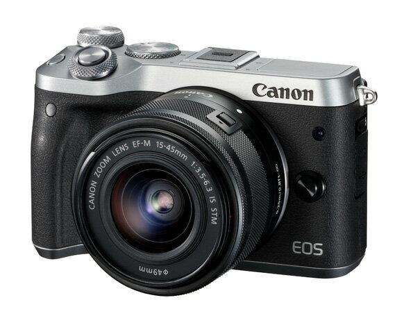 【ふるさと納税 家電】No.170 キヤノン ミラーレスカメラEOSM6(シルバー)+STMレンズキット