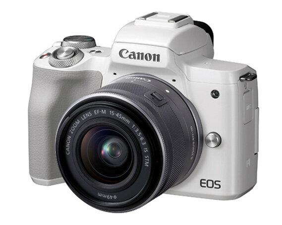 【ふるさと納税 家電】No.178 キヤノン ミラーレスカメラEOS kiss M(ホワイト)、EF-M15-45 IS STM レンズキット、SDカード付