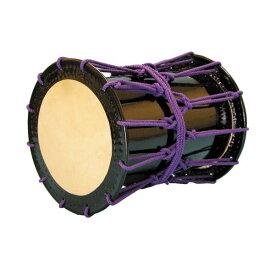 【ふるさと納税】AAI-19 桶胴太鼓1.4尺(紫紐)肩掛けストラップ(黒)付【諏訪工芸】