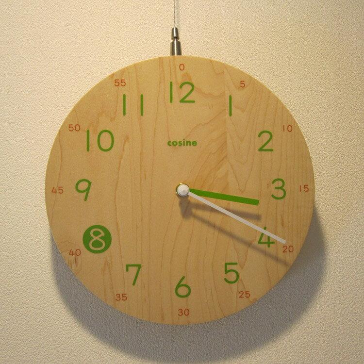 【ふるさと納税】木製子ども時計(メープル ウレタン仕上)