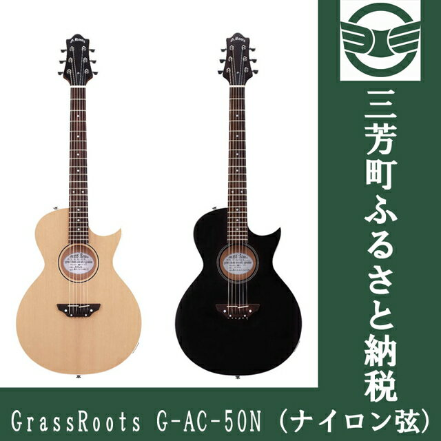 【ふるさと納税】アコースティックギター GrassRoots G-AC-50N(ナイロン弦) NTLS/STBKS
