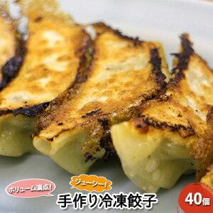 【ふるさと納税】【とんちん館】手作り冷凍餃子 40個 【お肉・豚肉・加工品・惣菜・冷凍・手作り冷凍餃子・餃子・ぎょうざ】