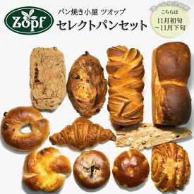 【ふるさと納税】【11月初旬~11月下旬】Zopf(ツオップ)セレクトパンセット 詰め合わせ 冷凍