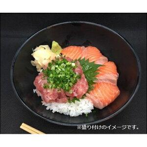 【ふるさと納税】王様のまぐろ食堂 ねぎとろとサーモンのセット(2食分) 【魚貝類・鮪・マグロ・まぐろ・魚貝類・鮭・サーモン】