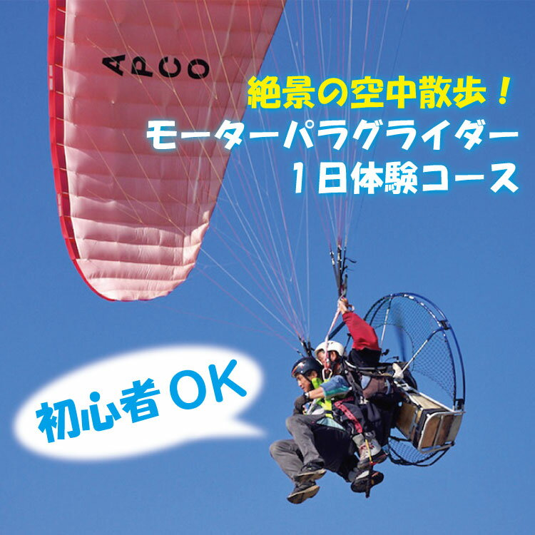 【ふるさと納税】◇絶景の空中散歩!モーターパラグライダー1日体験コース