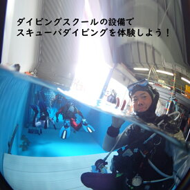【ふるさと納税】 ダイビング体験 1名様 体験時間3時間 ダイビング専用プール 初心者歓迎
