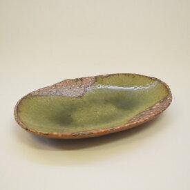 【ふるさと納税】 釉彩オーバル皿 楕円皿 長皿 和食器 おしゃれ 工芸品 手作り 陶器