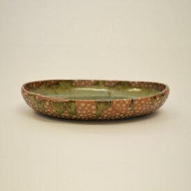 【ふるさと納税】 釉彩オーバル中鉢 楕円鉢 深皿 和食器 おしゃれ 工芸品 手作り 陶器