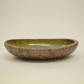【ふるさと納税】 釉彩オーバル鉢 楕円鉢 深皿 和食器 おしゃれ 工芸品 手作り 食器 陶器