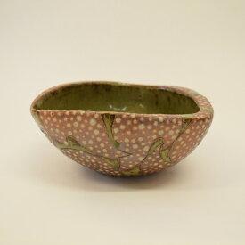 【ふるさと納税】 釉彩鉢 変形 三角 深皿 和食器 おしゃれ 工芸品 手作り 陶器 装飾品