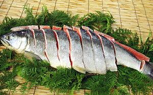 【ふるさと納税】新巻鮭1本(切身) 1.5kg前後(北海道産) 5651-0496