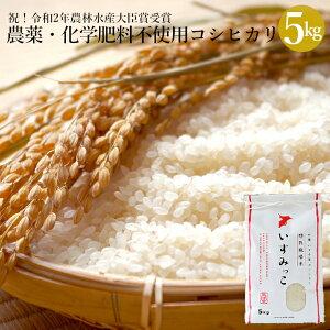 【ふるさと納税】 米 5kg 農薬・化学肥料不使用 特別栽培米 送料無料 コシヒカリ こしひかり 白米 5キロ