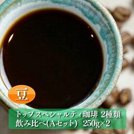 【ふるさと納税】M-6 トップスペシャルティ珈琲 2種類 飲み比べ【Aセット】「豆のまま」(250g×2)