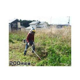 【ふるさと納税】ふるさとの除草作業(200坪前後)【千葉県 多古町】
