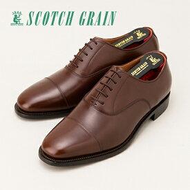 【ふるさと納税】スコッチグレイン紳士靴「アシュランス」NO.3526(ダークブラウン)【ウィズEEE】【特典:靴クリーム等セット】SCOTCH GRAIN ビジネスシューズ メンズ 革靴