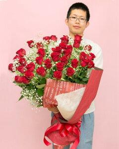 【ふるさと納税】《記念日に届くお花シリーズ》赤バラの花束 36本「ロマンチックな瞬間」